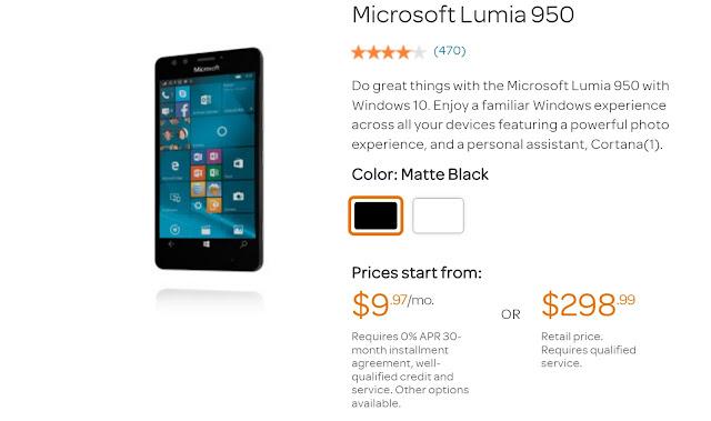 Grab AT&T Lumia 950 For Less Than $300