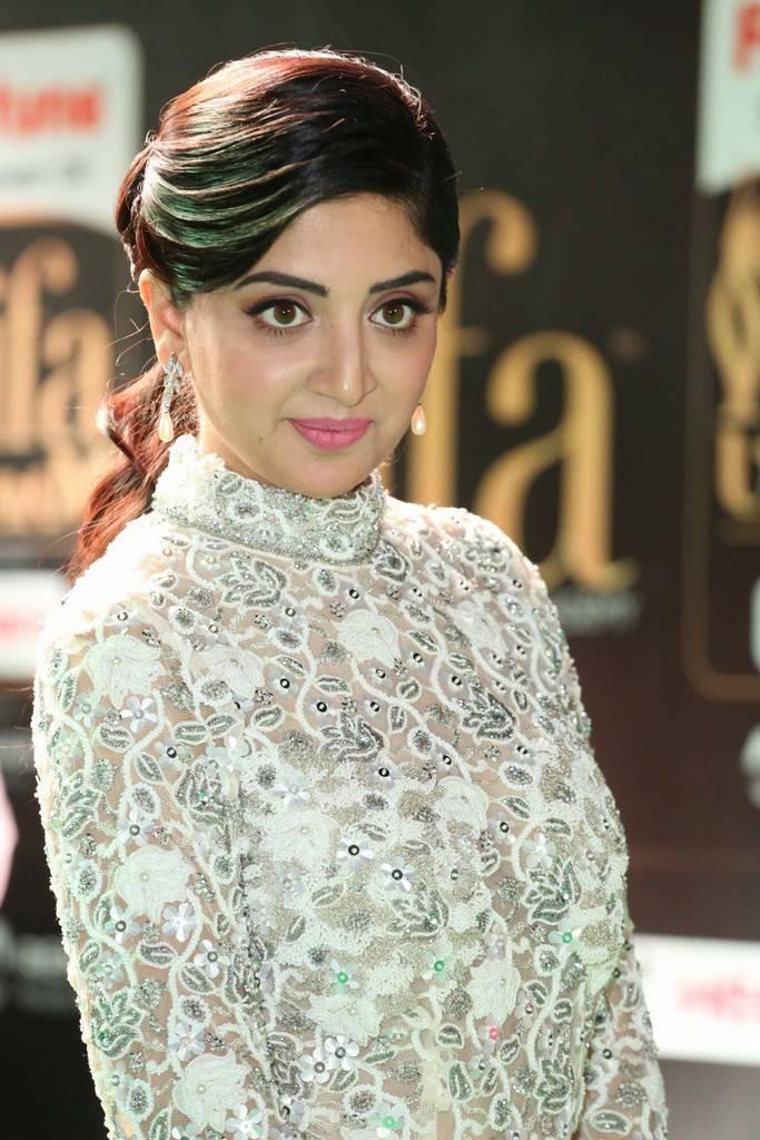 Telugu Model Poonam Kaur At IIFA Awards 2017 In White Dress