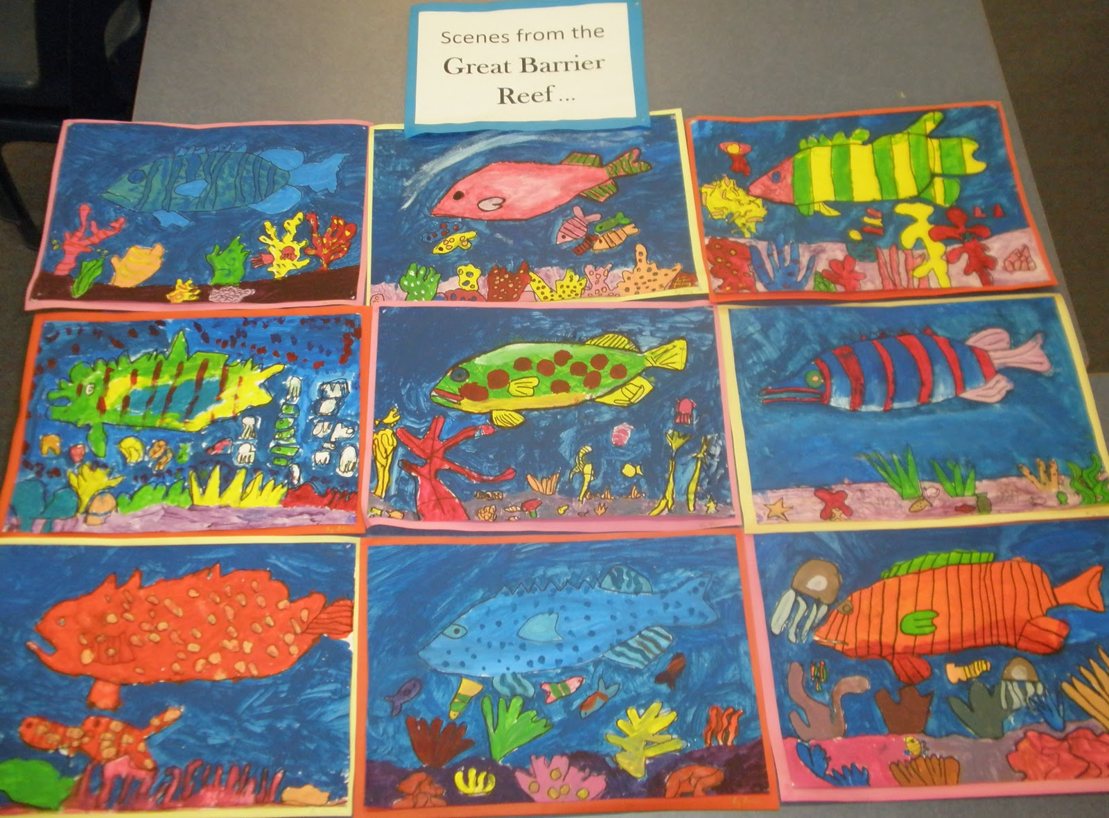 Art With Mrs Baker Great Barrier Reef Paintings