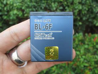 Baterai Nokia BL-6F GMTech Double IC Protection Buat N95 8GB N78 N79 1450mAh