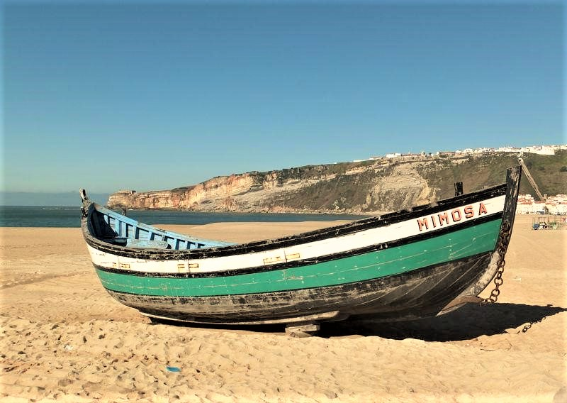 Traditional fishing boat, at Nazaré