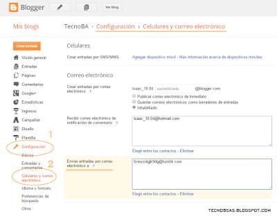 blogger configuracion