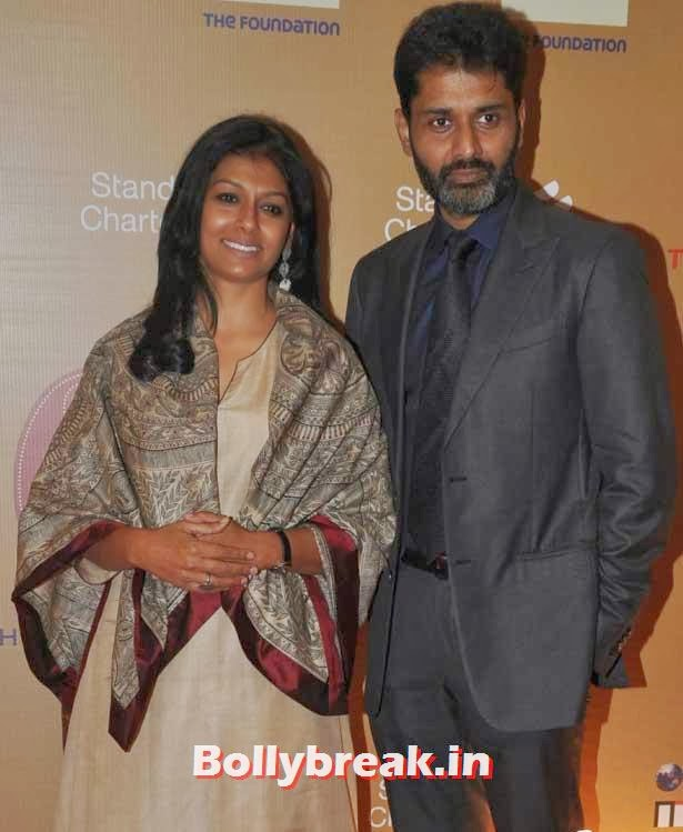 Nandita Das and Husband, The Idea of India Auction Pics