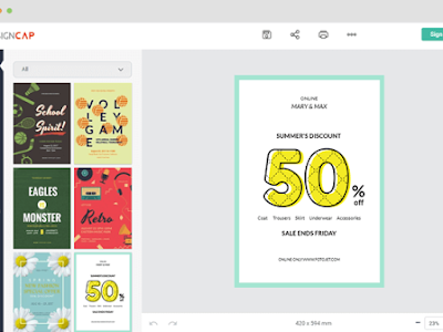 A New Web Tool for Creating Educational Posters to Use in Class