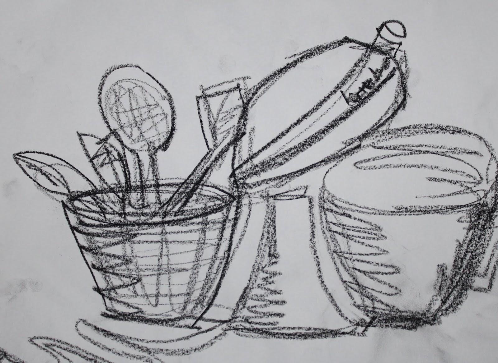 Evan S Drawing Blog Contour Line Drawings
