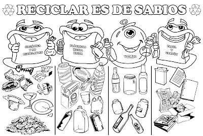 Dibujos sobre el reciclaje/Drawings about recycling