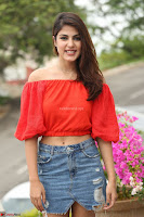 Rhea Chakraborty in Red Crop Top and Denim Shorts Spicy Pics ~  Exclusive 106.JPG