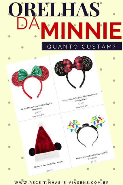 Quanto custa a orelha da Minnie na Disney de Orlando