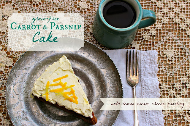 Thanksgiving Round-Up: Grain-Free Carrot & Parsnip Cake by And Here We Are