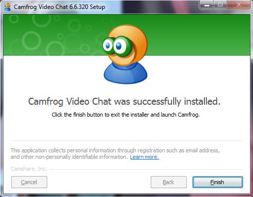 Install Camfrog 6.6 Finish
