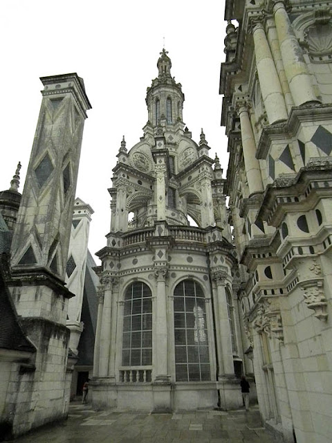 The roof of the Chateau of Chambord. Loir et Cher. France. Photographed by Susan Walter. Tour the Loire Valley with a classic car and a private guide.