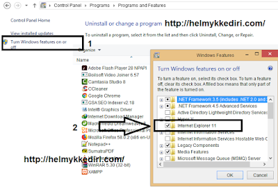 Cara menghapus internet explorer dari windows