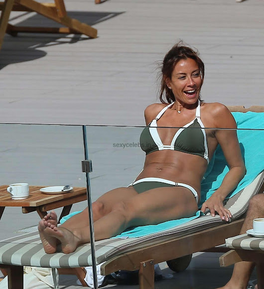 Bollywood Masti Blog: Melanie Sykes Sexy Hot Bikini Babe WOW Ass Hot huge Boobs Cleavages