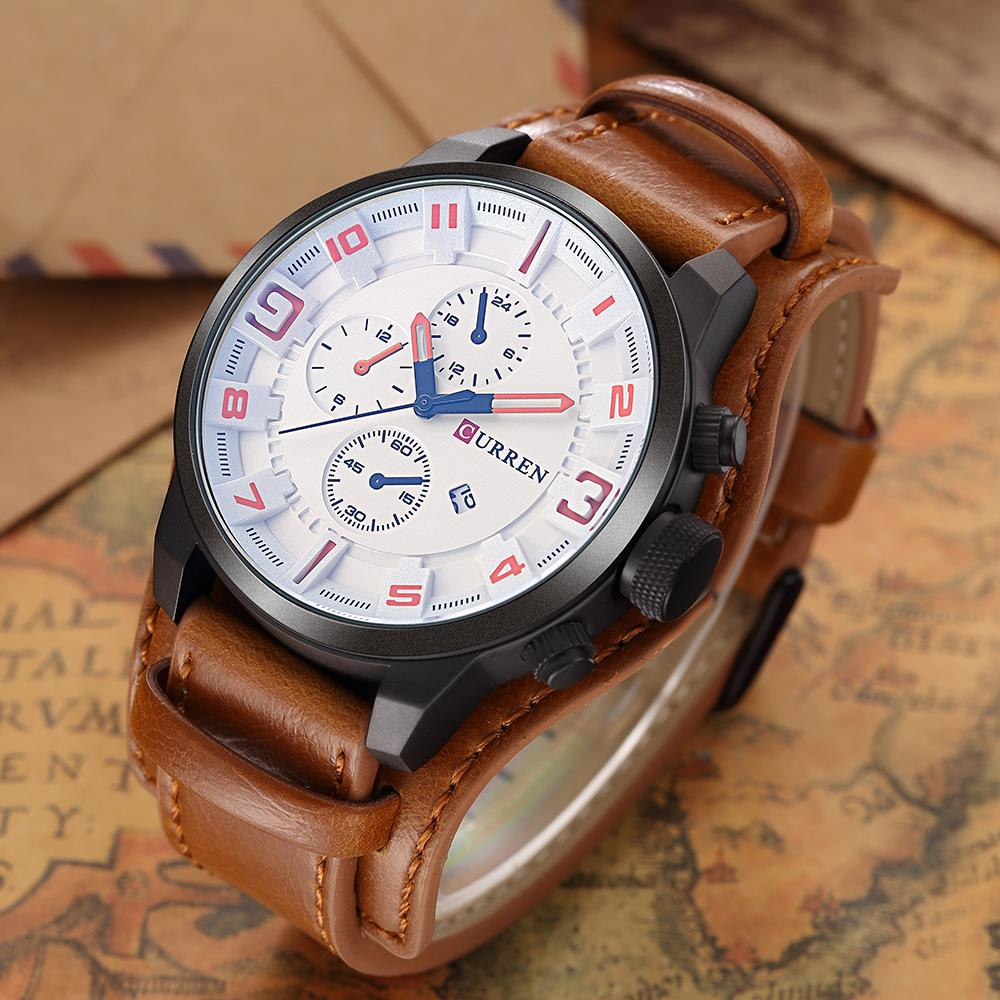 Curren watches men watch luxury brand analog men military watch reloj hombre whatch men quartz for Curren watches