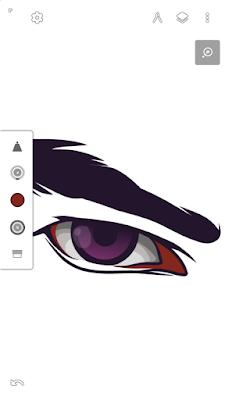 Memberi warna merah pada sisi mata