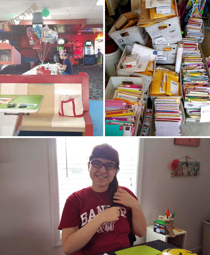 40 Times 2016 Restored Our Faith In Humanity - A Girl Who Has Autism Spent Her 18th Birthday Alone When Her Classmates Failed To Show Up For Her Party. But For Her 19th Birthday She Received 10,000 Cards And Presents Including Gifts From Soldiers In Afghanist