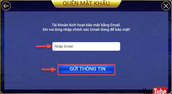 VinPlay Hướng dẫn khách hàng lấy lại mật khẩu đăng nhập - 200240