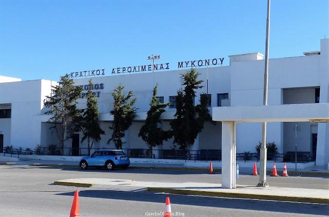 budyne lotniska Mykonos Grecja