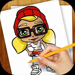 تطبيق تعلم الرسم خطوة بخطوة للاندرويد مجانا برابط مباشر Learn to Draw Subway Surfers