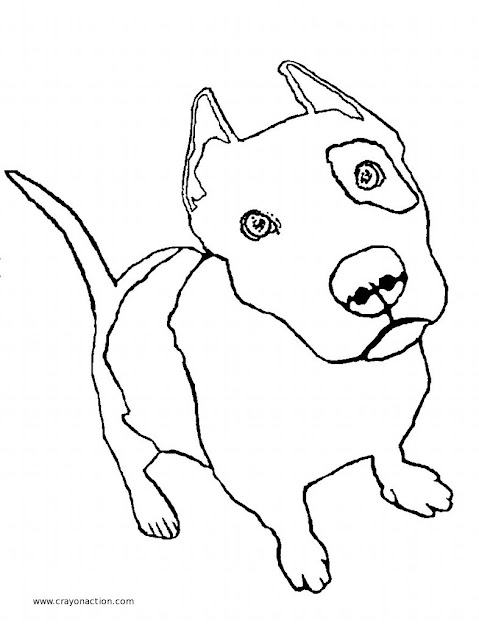 Lots Of Great Pictures To Print And Color Easy To Print No Popup Ads  New Coloring Pages Added Every Week Pitbull Puppies Drawings