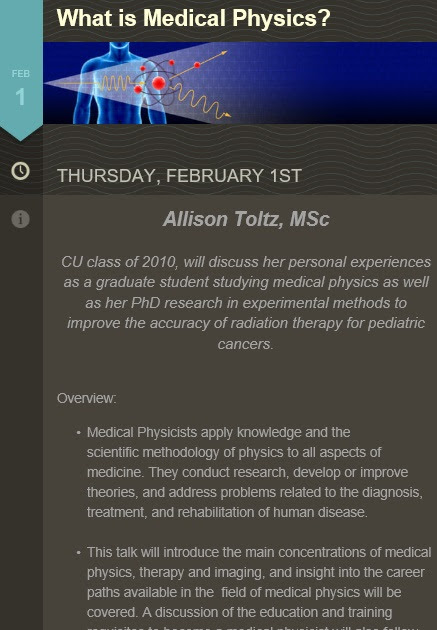 SPS Medical Physics Colloquium 01 Feb 4:00 PM