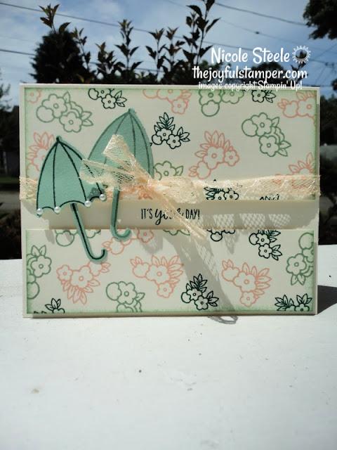 under my umbrella vintage stampin' up! nicole steele the joyful stamper independent stampin' up! demonstrator