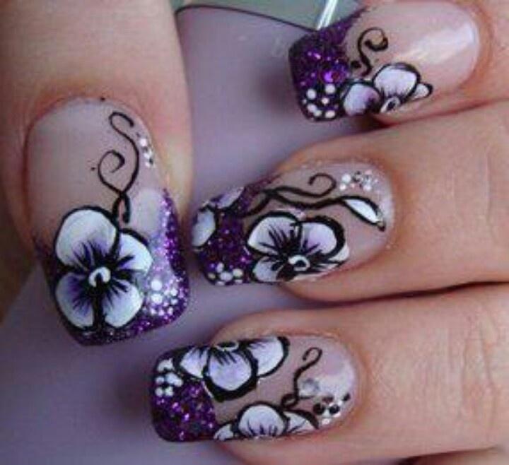 Bonitos Diseños de Uñas con Flores - ε Diseños de Uñas ...