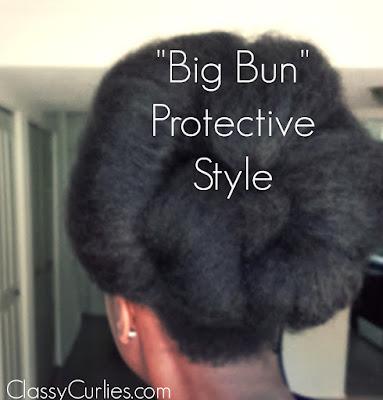big bun protective style