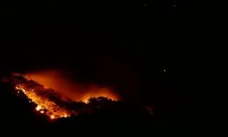 Δραγώγι Ολονύχτια μάχη με τις φλόγες