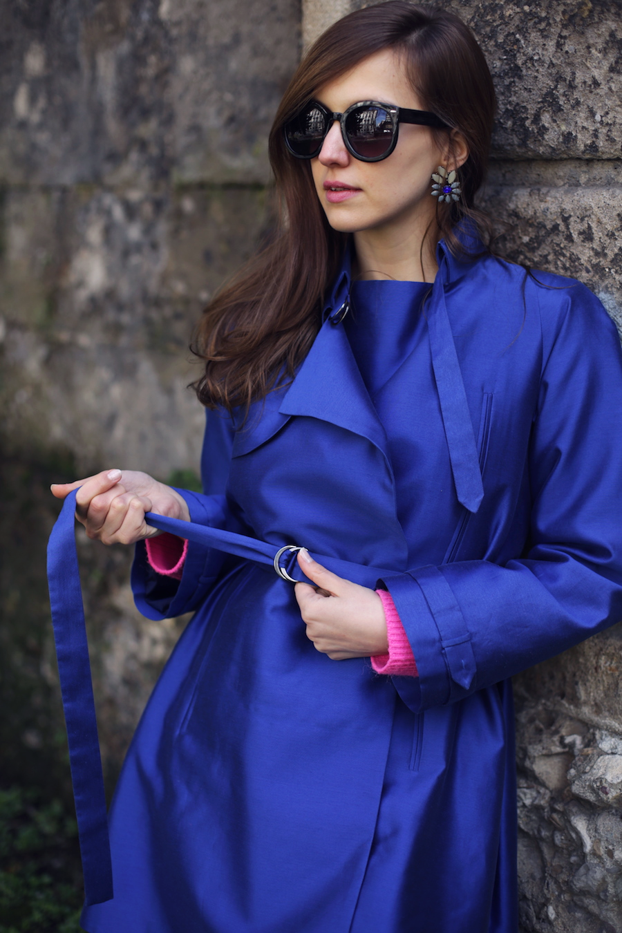 fashion blogger wearing giorgio armani