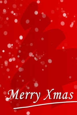 Red merry xmas mobile phone wallpapers
