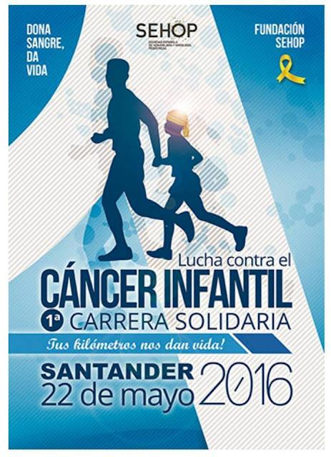 Carrera solidaria contra el cáncer infantil en Santander
