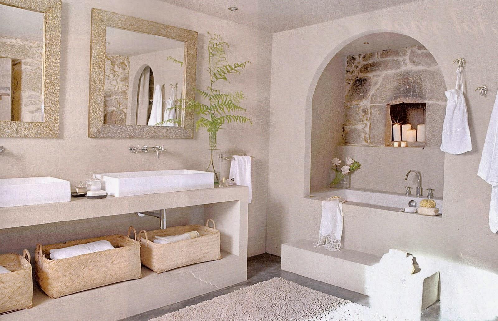 Bagno In Cemento Lisciato Mattoni In Cotto Per Interni E Esterno