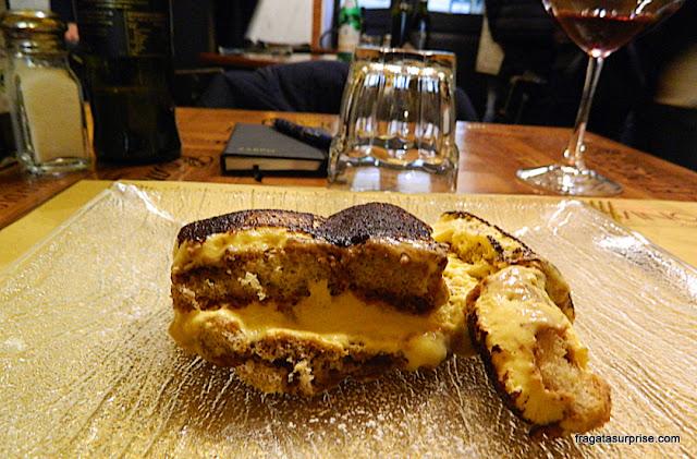 Tiramisù servido no Restaurante Baldovino