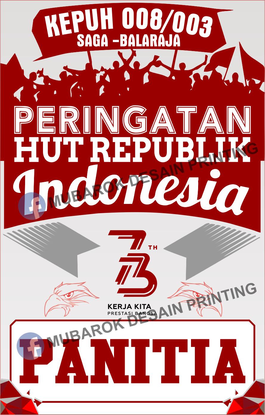Desain ID Card Panitia HUT RI 73 Tahun 2018 Kepuh Saga cdr