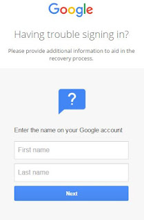 Enter the name on your Google account