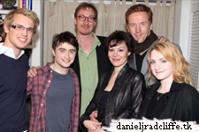"Harry Potter cast and Anderson Cooper visit Daniel Radcliffe at ""How to Succeed"""