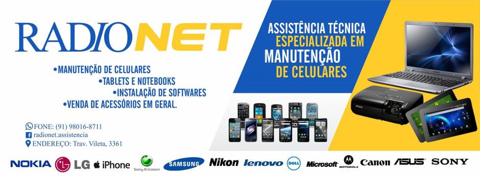 Radionet Assistência Técnica de celulares, tablets e computadores