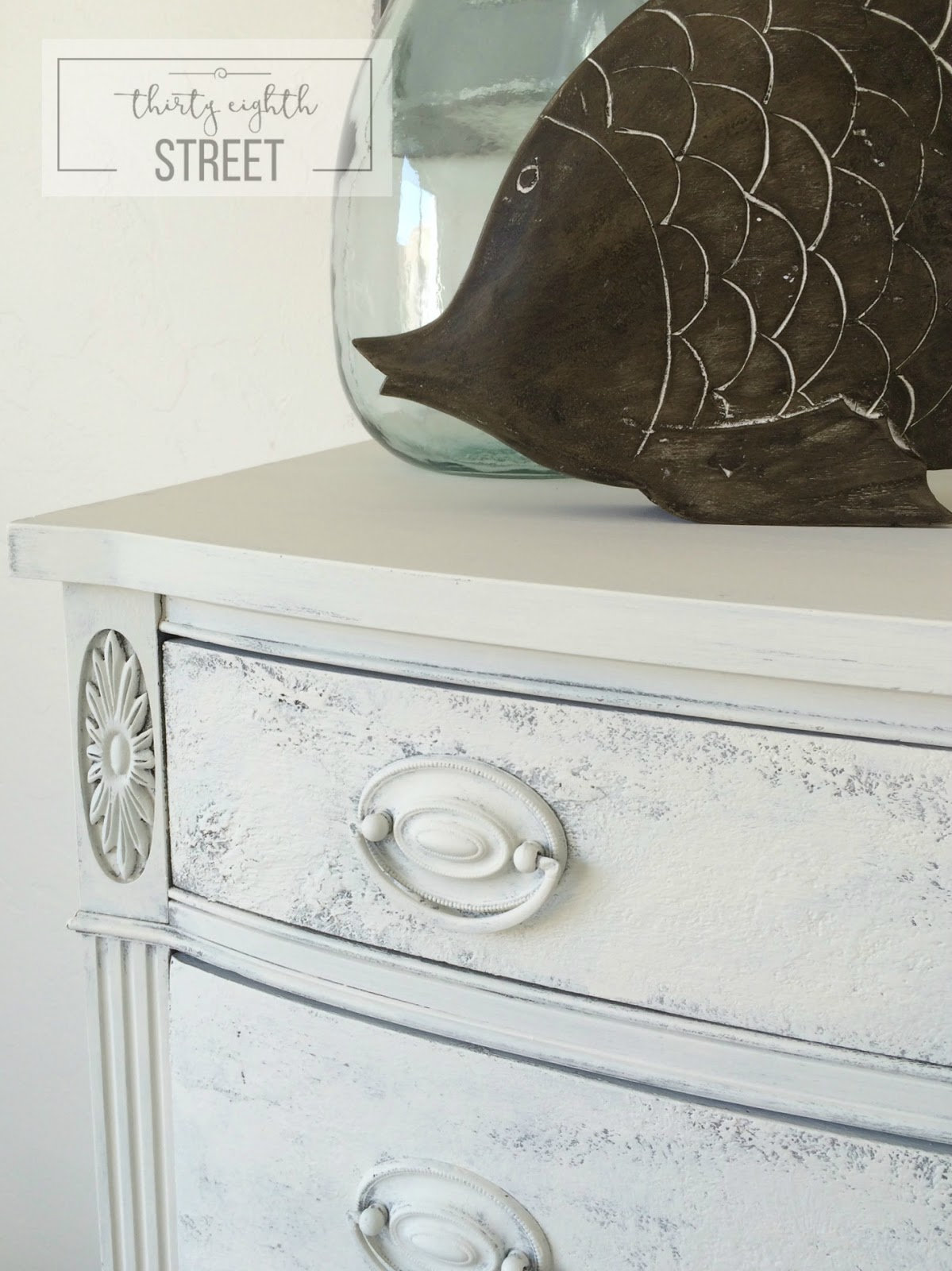 Adding Texture To Furniture With Saltwash™, Adding Texture With Saltwash. Saltwashed Distressed Dresser.