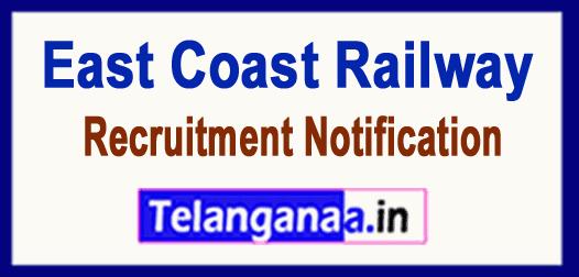 East Coast Railway ECR  Recruitment Notification