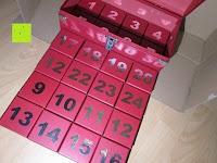 Reihen: Adventskalender als piratige rustikale Schatztruhe - 24 einzelnen Schatzboxen - Ideal für den Advent