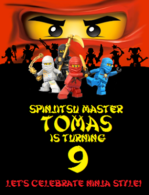Planning a Ninjago Birthday Party - Invitation Tutorial