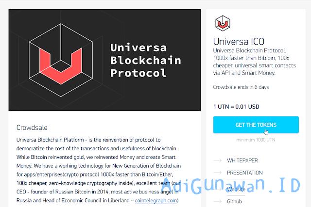 investasi ico terbaru universa