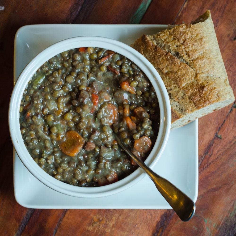 Ham, Lentil And Vegetable Soup (Pressure Cooker Version