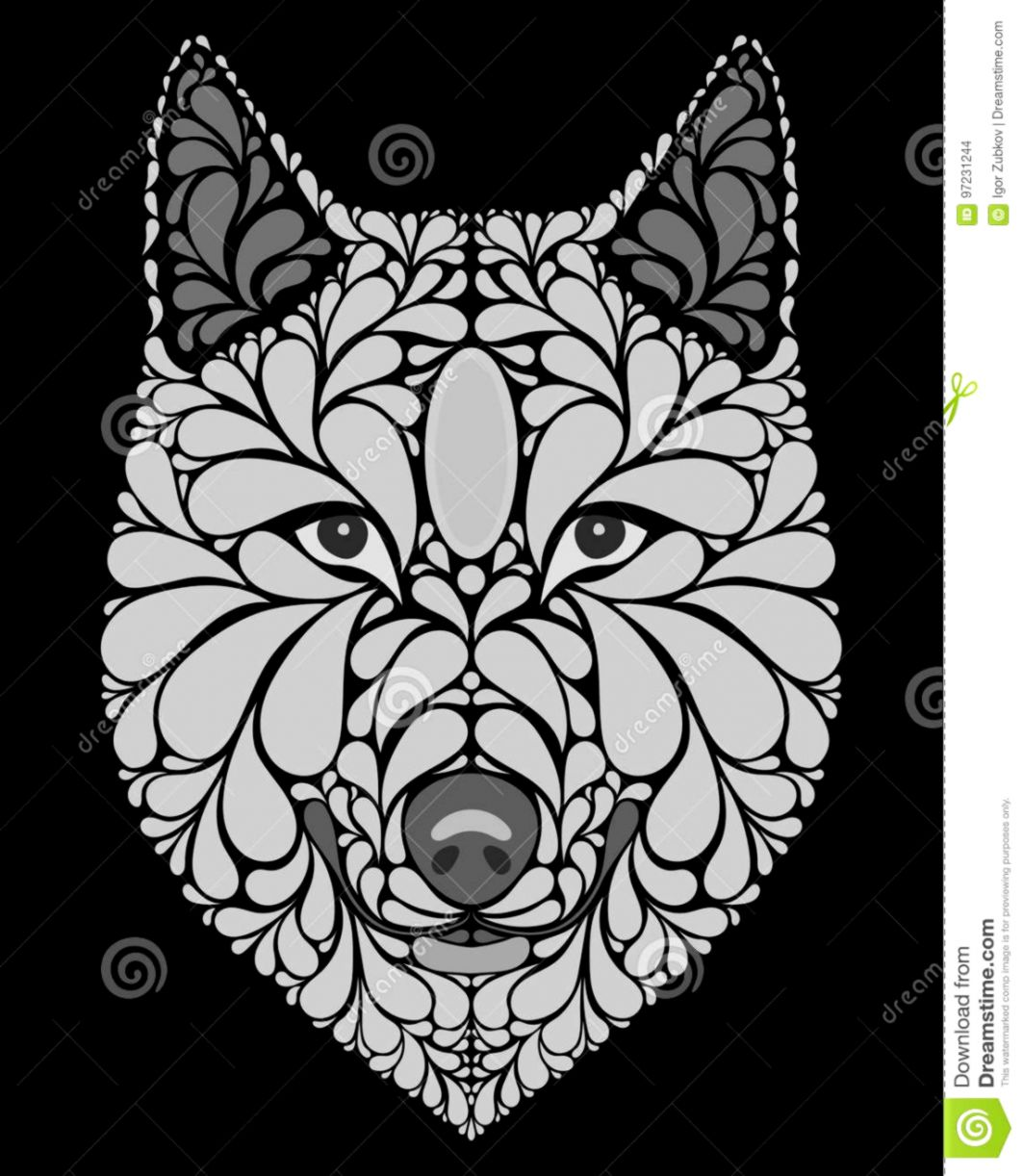 Abstract Art Black And White Wolf The Champion Wallpapers