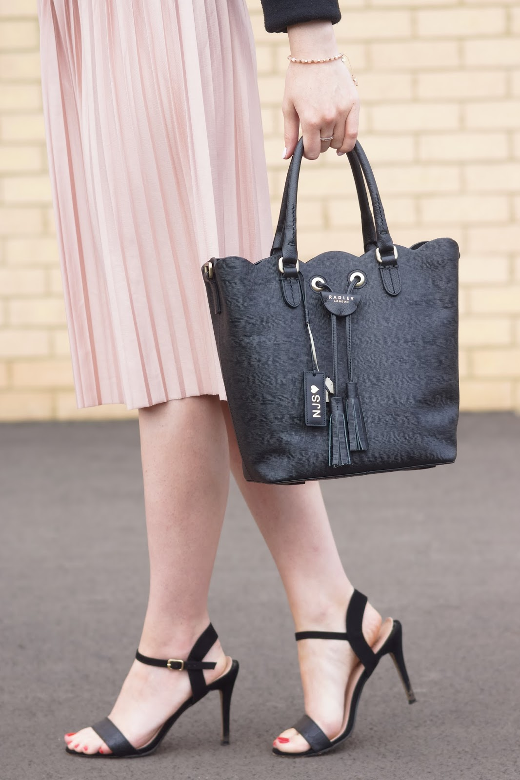 Hello Freckles Radley Personalisation Southern Row Scallop Tote Bag Dalton Park Street Style Outfit