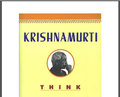 Think on these Things by J.Krishnamurti Download eBook in PDF