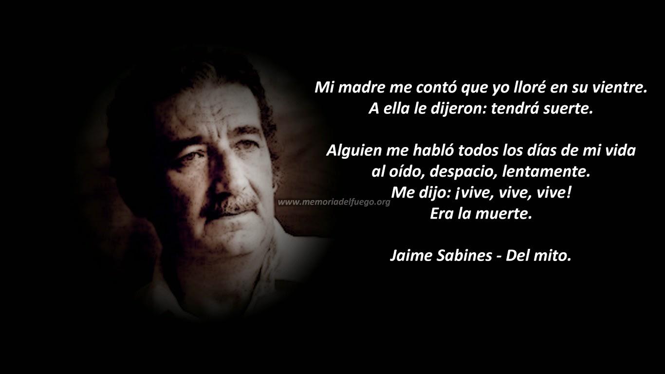 Poema Del mito de Jaime Sabines
