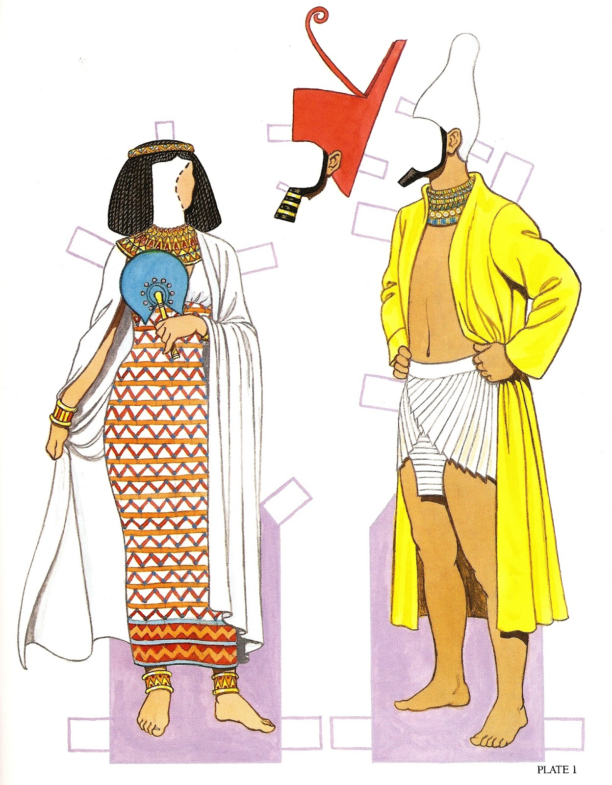 Ancient Egyptian Clothing Paper Dolls
