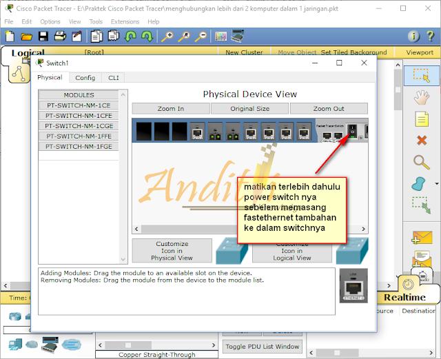 [Tutorial Cisco Packet Tracer 04] Membangun Jaringan Client Server Skala kecil-anditii.web.id